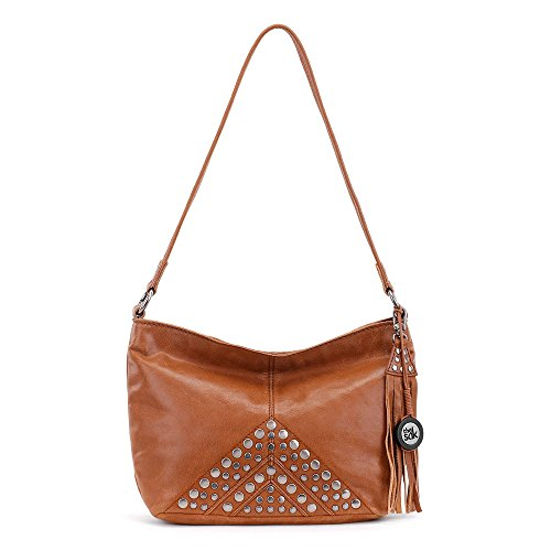 The Sak Women's Indio Leather Demi Tobacco Studs Shoulder Bag by The Sak
