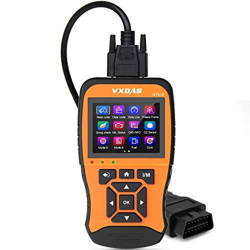 VXDAS NT510 OBD2 Scanner Enhanced OBDII Code Reader Auto Car Diagnostic  Scan Tool Check Engine Light Vehicle Mode 6 Analyzer