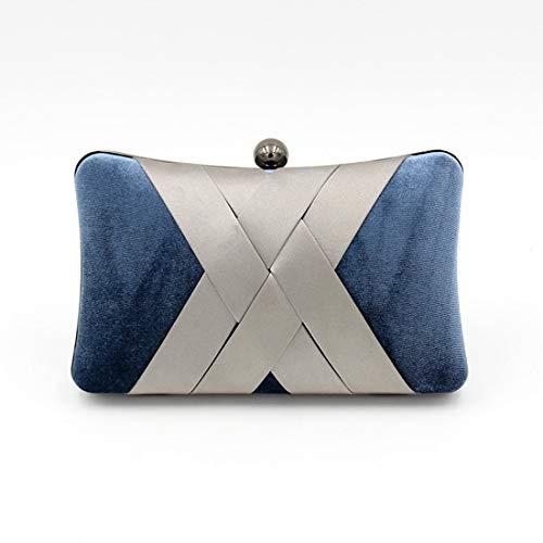 Mallty Blue Pochette Soirée De Mariage D'embrayage Blue Fête color Bal Navy Sac raOxqvwgr