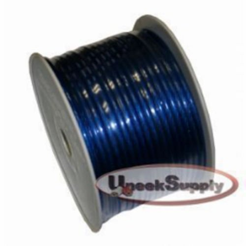 Blue Cable Wire Ground (15 Ft - 8 Gauge Power Wire Blue High Quality GA Guage Ground AWG 15 Feet)