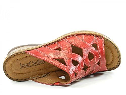 Josef Seibel 56508-61-400 Catalonia 44 Zuecos de cuero mujer Rot