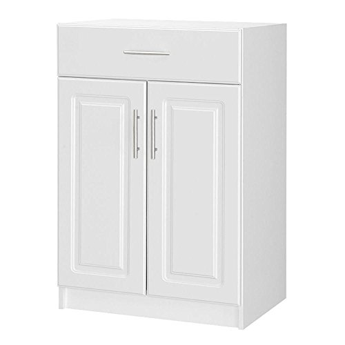 Select 36 in. H 2-Door Base Cabinet with Drawer in White