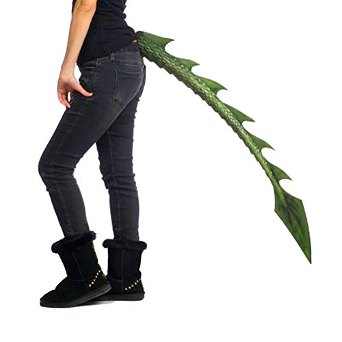 [Extra Long Supersoft Dragon Tail, 40 Inches (Green)] (Toothless Costume Tail)