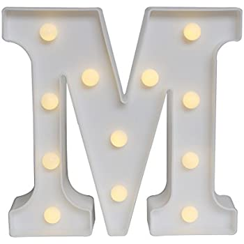 delicore led marquee letter lights alphabet light up sign for wedding home party bar decoration m - Marquee Letter Lights