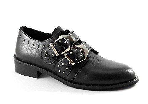 Follie Hebillas Negro Divine Follie Abarcas Divina Zapatos Mujer Esp 2C de Cuero Rxfxwv