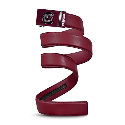 (NCAA South Carolina Gamecocks Mission Belt, Cardinal Leather, Extra Large (up to 42))