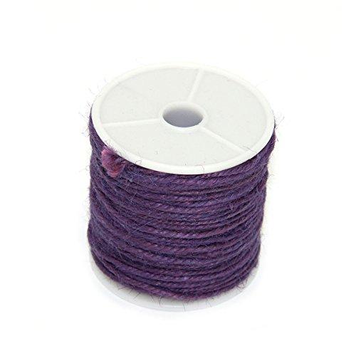 Colored Hemp Twine (Pixnor 50M Hemp Cord Colored Macrame Jewelry Spool Stringing Twine Purple)