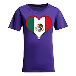 Brasil 2014 FIFA World Cup Theme Short Sleeve T-shirt,Football Background Womens Cotton shirts for Fans Purple