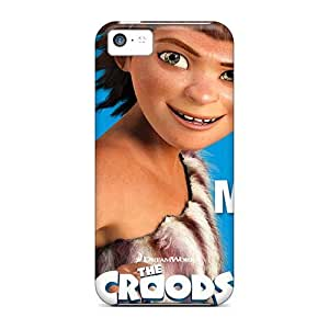 Shock Absorption Hard Cell-phone Case For Iphone 5c With Customized Nice The Croods Skin AlissaDubois