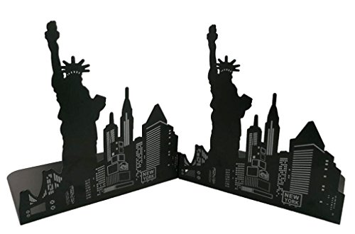 Winterworm One Pair Fashion Modern European American Architecture Landmark Theme Style Thickening Iron Library School Metal Bookends Book End Perfect Mother's Day Gift (New York Statue Of Liberty) Photo #4