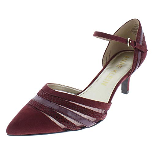 Anne Klein Women's FAYME Fabric Pump, Wine Multi, 6 M US