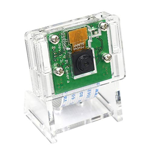 5MP 1080P Video Camera Module for Raspberry Pi 3 b+, Pi Zero W Camera with Camera Case and Flex Cable