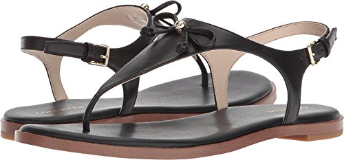 Cole Haan Womens Findra Thong Sandal II Black Leather 7.5 B - (Detail Thong Sandals)