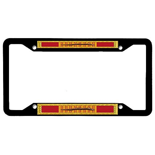 (URCustomPro Republic of Vietnam Gallantry Cross Unit Citation - AFNMCCG Frame Black License Plate Frame for Women/Men, Stainless Steel Metal License Plate Holder, License Tag Holder)