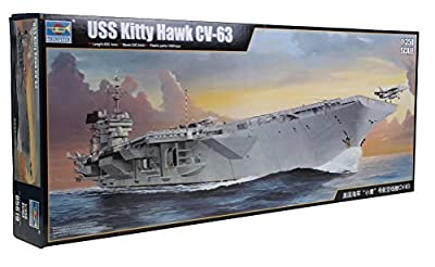 1/350 Trumpeter USS Kitty Hawk CV-63 Aircraft Carrier Plastic Model Kit by Trumpeter Scale Models