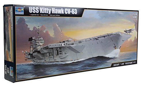 1/350 Trumpeter USS Kitty Hawk CV-63 Aircraft Carrier Plastic Model Kit by Trumpeter Scale Models (Uss Kitty Hawk Cv 63 Model Kit)