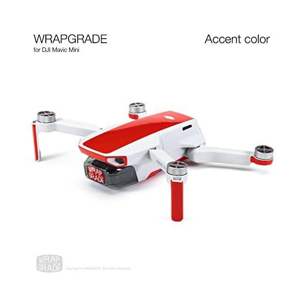 WRAPGRADE Colore di Accento Skin Compatibile con DJI Mavic Mini (Super Red) 6 spesavip