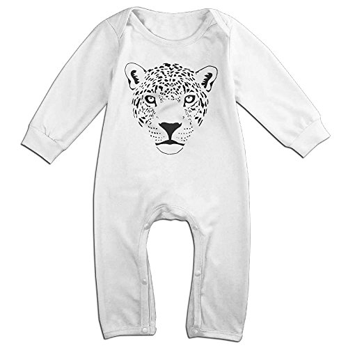 Jaguar Cougar Cat Puma Panther Leopard Newborn Baby Long Sleeves Climbing Clothes Boy's & Girl's Triangle Bodysuit Size 12 Months White Funny