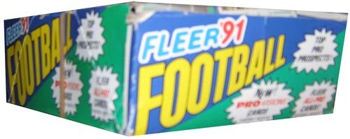 (1991 Fleer Football Wax Box)