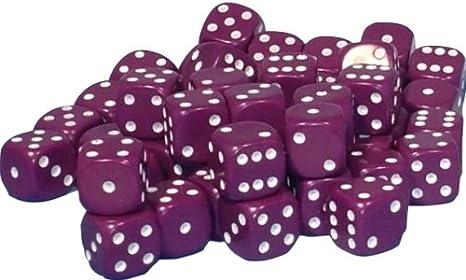 50 x 10mm opaque Plastic dice Assorted