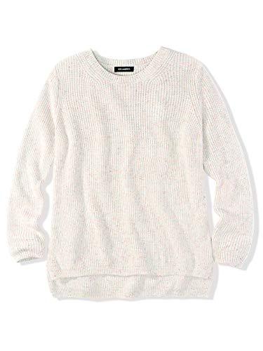 525 America Cotton Sweater - 525 America Women's Emma Cotton Shaker Stitch Crewneck Sweater