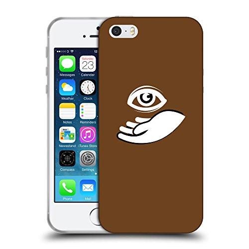GoGoMobile Coque de Protection TPU Silicone Case pour // Q09060633 Œil Providence 16 Sépia // Apple iPhone 5 5S 5G SE