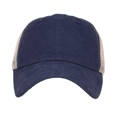 HYIRI Male and Female Caps,Elegant and Casual Sun Hats Navy]()