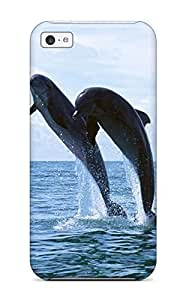 1782548K81124384 Hot Fashion Design Case Cover For Iphone 5s for you Protective Case (dolphins)