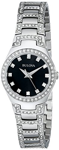 Ladies Bulova Crystal Watch (Bulova Women's 96L170 Crystal Bracelet Watch)