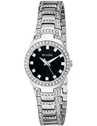 Bulova Womens 96L170 Crystal Bracelet Watch