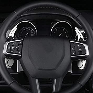 Semoic 2-Piece Aluminum Alloy Steering Wheel Shift Paddle for Land Range Rover Evoque Discovery Sport//xf xe Silver