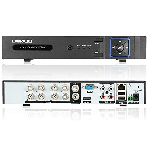OWSOO AHD 8CH DVR 8Channel Video Recoder 1080P CCTV Security Standalone DVR...