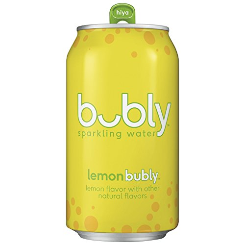 (bubly Sparkling Water, Lemon, 12 fl oz. Cans, (Pack of 18))