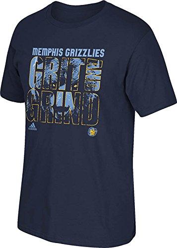 NBA Memphis Grizzlies Men's Grind Short Sleeve Tee, Collegiate Navy, Medium