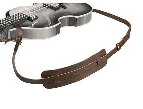 Hofner H65/50 - Dark Brown Strap Leather Strap for Bass Guitar ()