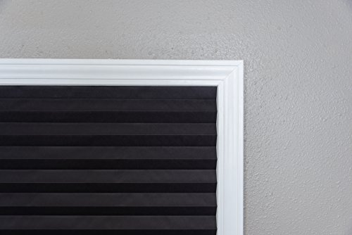 """Original Blackout Pleated Paper Shade Black, 48"""" x 72"""", 6-Pack"""