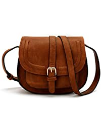 Small Shoulder bags PU Leather Satchel Mochila Vintage Handbags for Women – Black, Brown, Blue, Red, and Brand New Olive Green with Adjustable strap AND ...