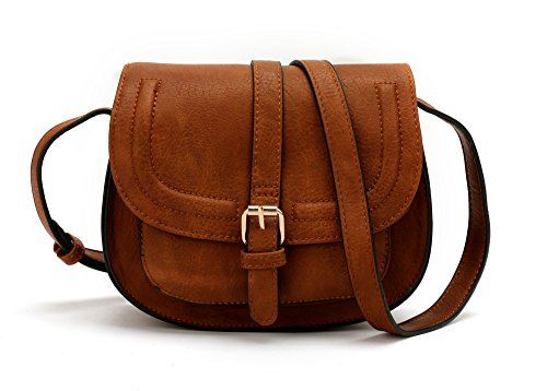 ANNA JONES Adjustable Shoulder Strap Shoulder Bags Cross body Bags for Women Brown color