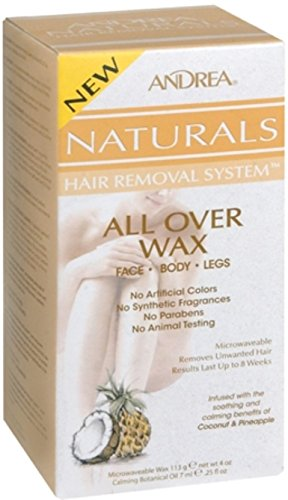Andrea Naturals Hair Removal System All Over Wax 1 Each (Pack of 4)