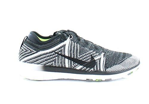Nike Womens Wmns Free Tr Flyknit, Nero / Nero-bianco-volt, 11 Us