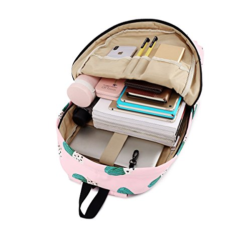 Lightweight Cactus Bookbag School Fashion Girls for Pink and Cute 615 Waterproof Fox Boys Acmebon Print Backpack qAgWCZaa