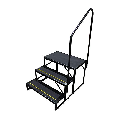 (Quick Products Black Standard QP-S5W2S Economy 5th Wheel Stair - 3-Step)