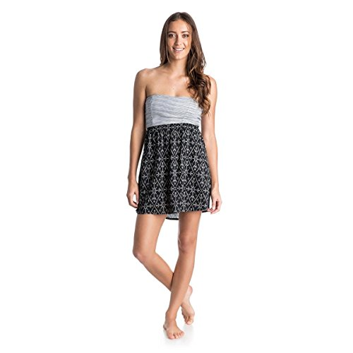 Roxy Womens Roxy Savage 3 - Woven Bandeau Dress - Women - S - Black True Black Mirage Marking S
