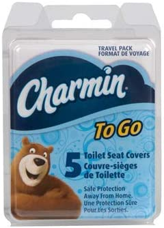 Amazon.com: Charmin to Go Toilet Seat Covers, 4 Pack (5 Covers
