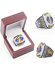 2021 'Fantasy Football Championship Ring with Wooden Box Champions Rings Replica Official Series Collection Souvenirs Gifts for Men Women Kids Father Size 11#