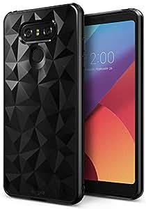 LG G6 / G6 Plus Case, Ringke [AIR PRISM] Fashionable Vogue Trendy Design Chic Ultra Rad Pyramid Stylish Diamond Pattern Soft Diamond Texture Protection TPU Cover – Ink Black