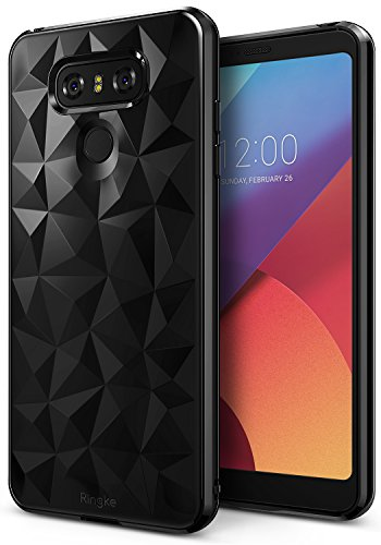 Price comparison product image LG G6 / G6 Plus Case, Ringke [AIR PRISM] Luxurious Vogue Trendy Design Chic Ultra Rad Pyramid Stylish Diamond Pattern Flexible Gemstone-Like Texture Defensive TPU Cover – Ink Black