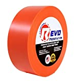REVO Preservation Tape / Heat Shrink Wrap Tape (2'' x 60 yards) MADE IN USA (ORANGE) Poly Tape - Electrical Tape - Asbestos Removal Tape (STRAIGHT EDGE) SINGLE ROLL (ECONOMY: 7.5 MIL THICKNESS)
