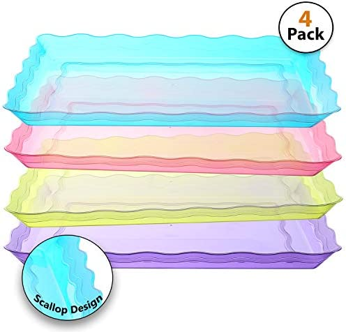 Rectangular Heavyweight Disposable Platters Assorted product image