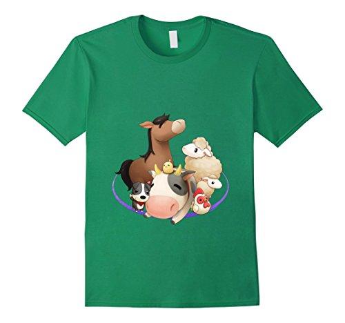 Mens Official Harvest Moon Animal Friends T-Shirt XL Kelly Green -